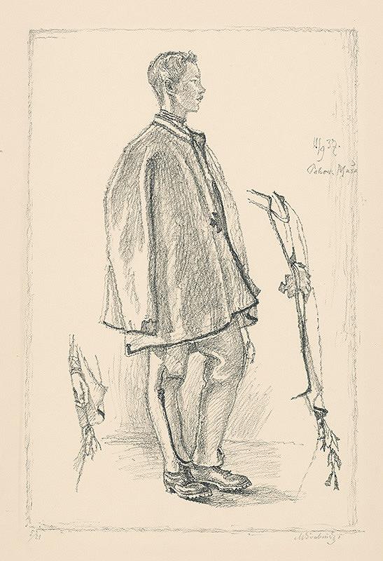 Max Švabinský – Slovenský chlapec z profilu