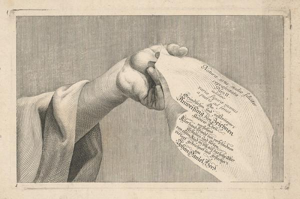 Johann Daniel Herz st. – Titulný list k návodu na kreslenie - II. časť (Anweisung zum Zeichnen, Anderer Teil)