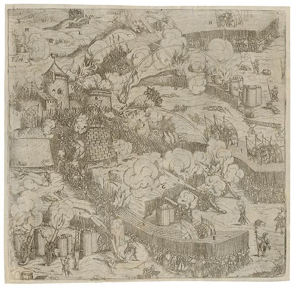 Neznámy grafik - Obliehanie Fiľakova v roku 1593