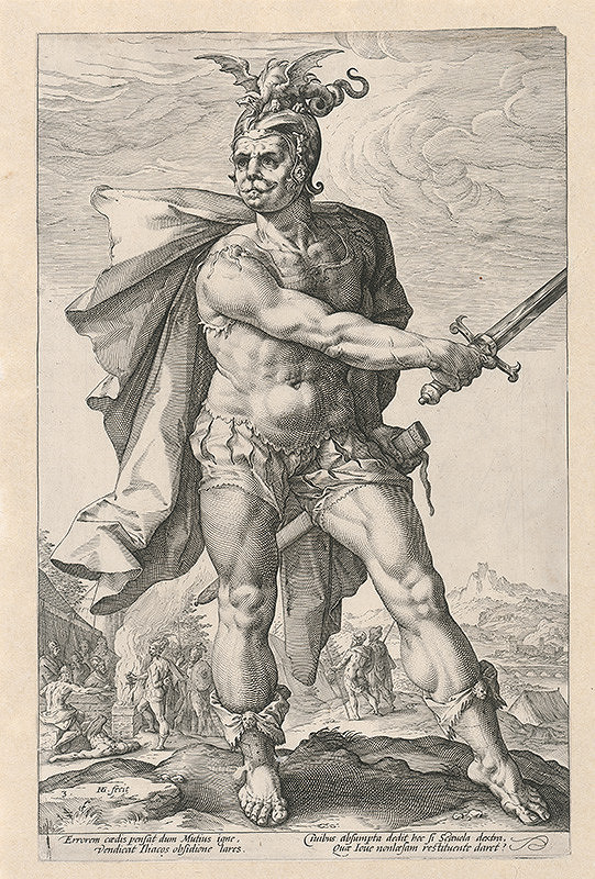 Hendrick Goltzius - Víťazný rímsky legionár