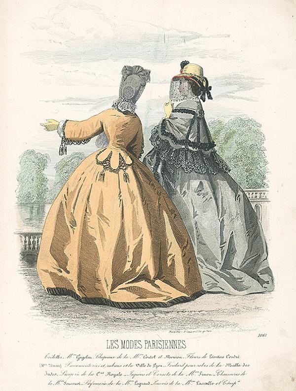 E. Bracquel, Francois Claudius Compte-Calix, E. Bracquet – List z módneho časopisu Les Modes Parisiennes. Modely M.on Gagelin