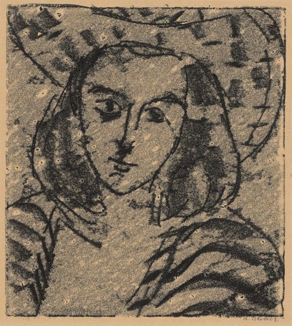 Eugen Nevan - Hlava dievčaťa v klobúku
