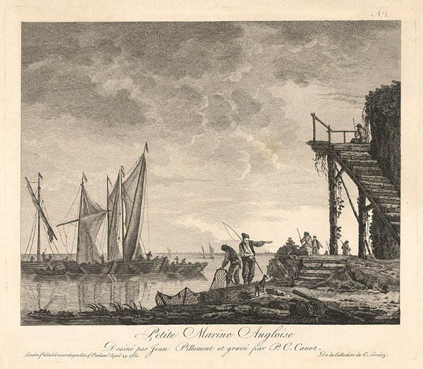 Pierre Charles Canot, Jean Baptiste Pillement - Malá anglická marina
