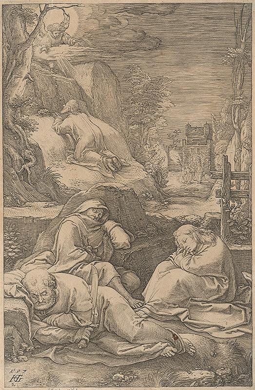 Hendrick Goltzius – Kristus sa modlí na Olivovej hore (2)