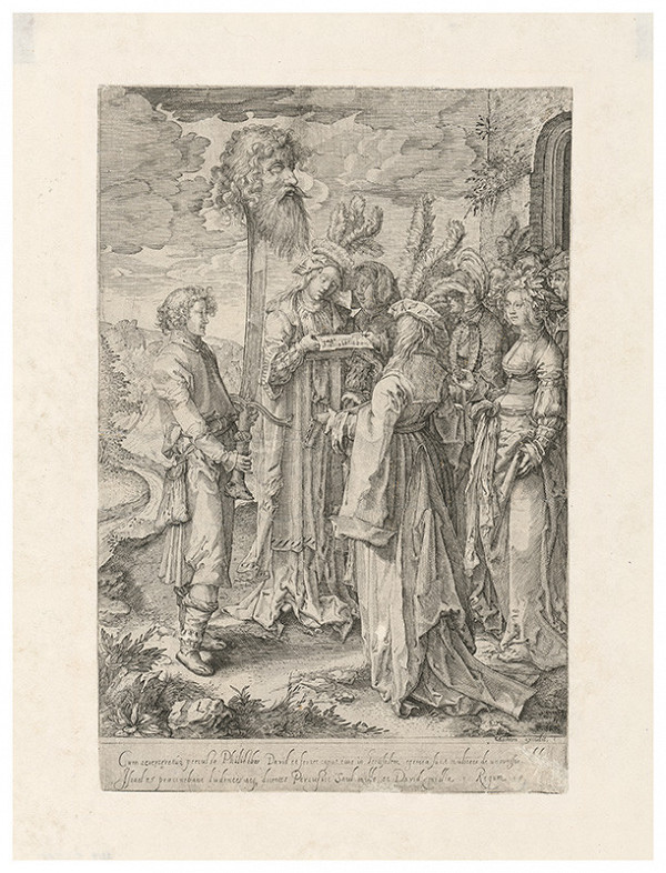 Lucas van Leyden – David s hlavou Goliáša