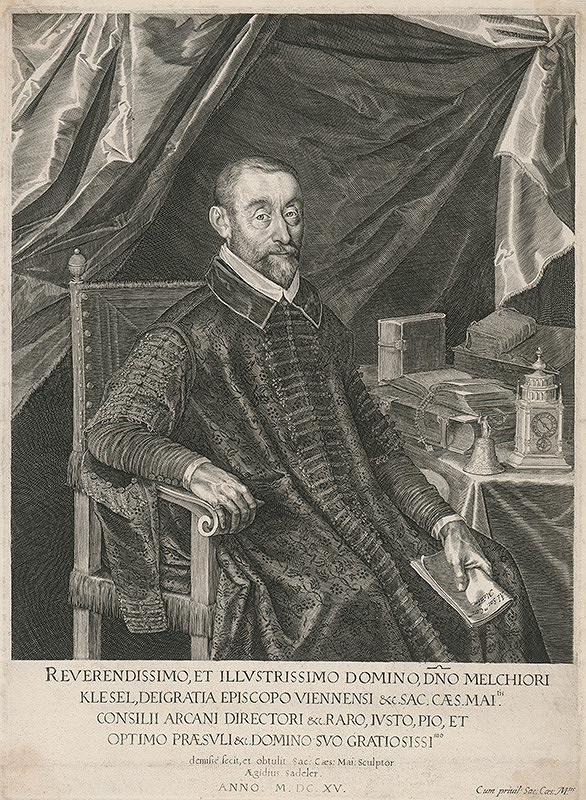 Aegidius Sadeler II. - Portrét biskupa Melchiora Klesla (1553 – 1630)