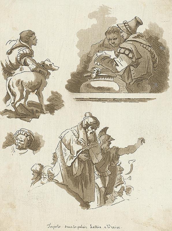 Hubert Robert, Jean Claude Richard de Saint-Non – Štúdie podľa Tiepolových malieb v paláci Laddia v Benátkach