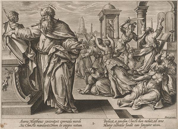 Hendrick Goltzius, Maarten de Vos st. - Svätý Matúš