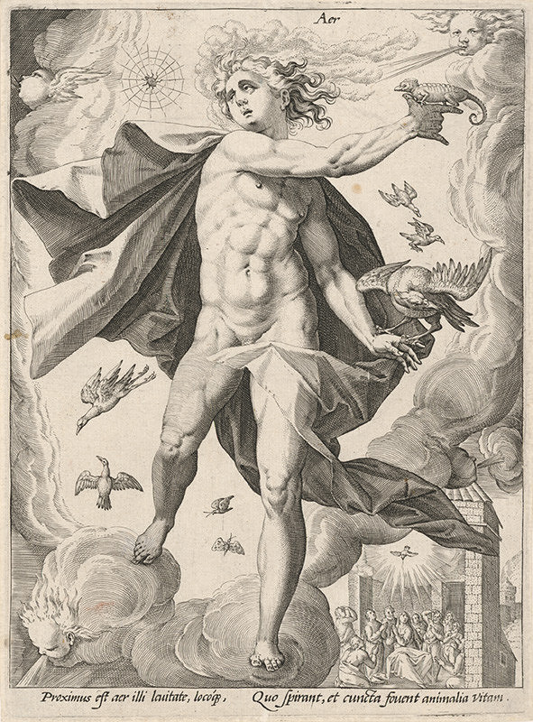 Hendrick Goltzius, Neznámy grafik - Vzduch