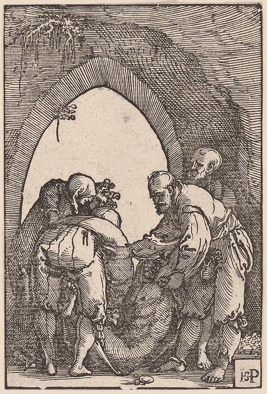 Hans Sebald Beham – Kladenie do hrobu