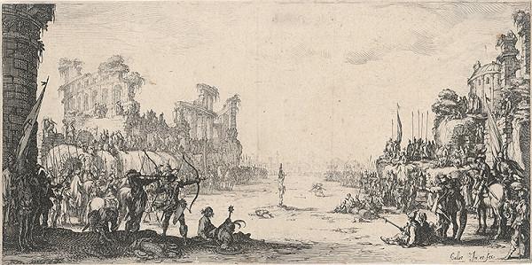 Jacques Callot - Martýrium sv. Sebastiána