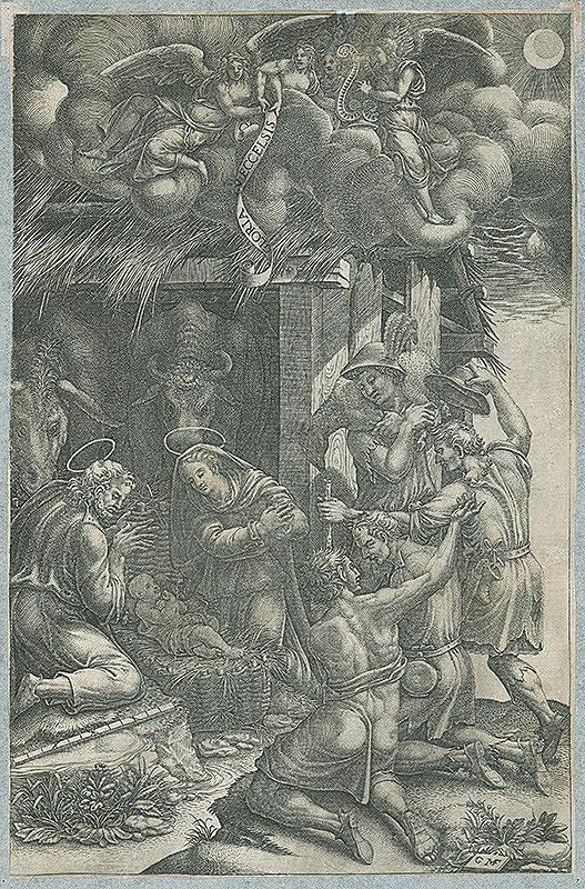Giorgio Ghisi, Nemecký grafik GMF z 2. polovice 17. storočia – Klaňanie pastierov