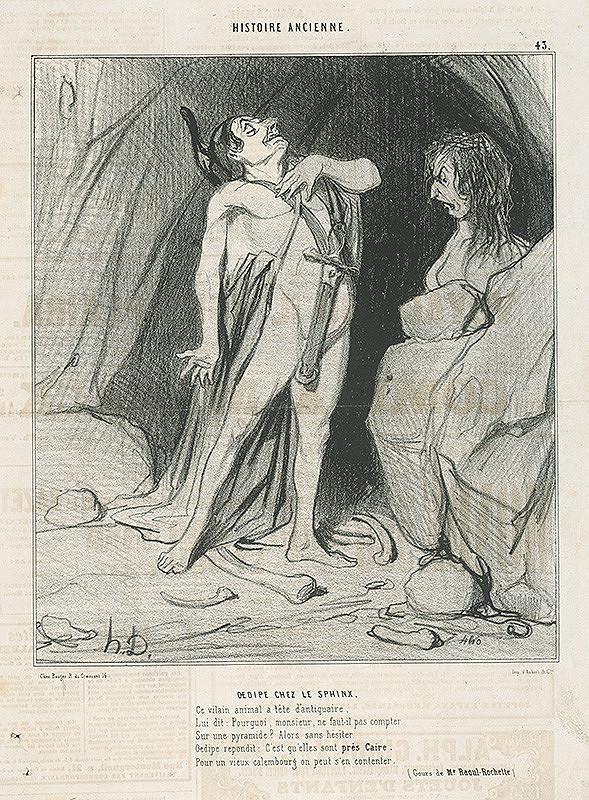 Honoré Daumier – Oidipus pred Sfingou