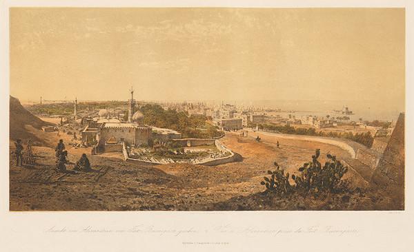 Karol Ľudovít Libay – Pohľad na Alexandriu z Fort Buonaparte