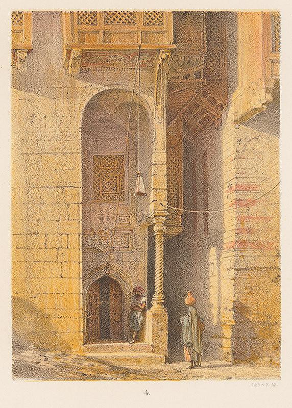Karol Ľudovít Libay – Vstup do tureckého domu v Damiette