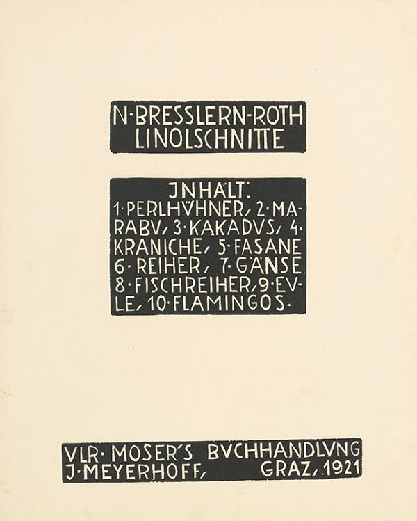 Norbertine von Bresslern-Roth - Titulný list