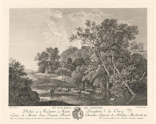 Jacques Aliamet, Johann Georg Wagner – Krajina pri Drážďanoch