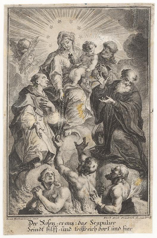 Jacob Andreas Fridrich, Johann Baptist Zimmermann – Madona s ružencom