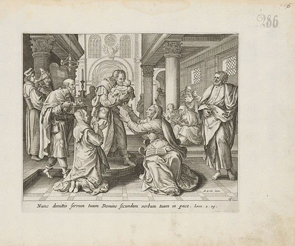 Claes Jansz. Visscher, Maarten de Vos st. - V chráme