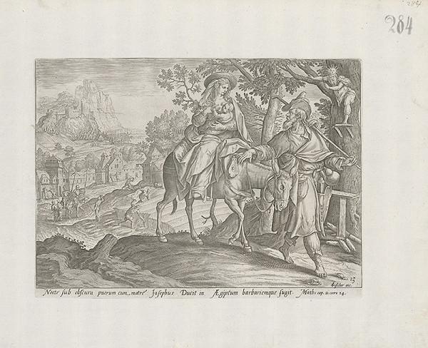 Claes Jansz. Visscher, Maarten de Vos st. - Útek do Egypta