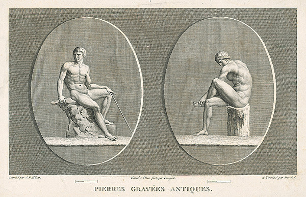 H.G. Bertaux, Jean Baptiste Joseph Wicar, Jean Louis Charles Pauquet – List zo zborníka antických kamejí VII.