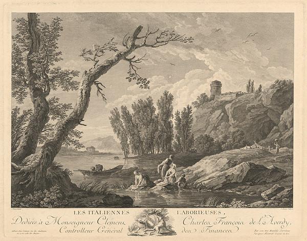 Jacques Aliamet, Claude-Joseph Vernet – Pracovití Taliani (Les Italiennes Laborieuses)