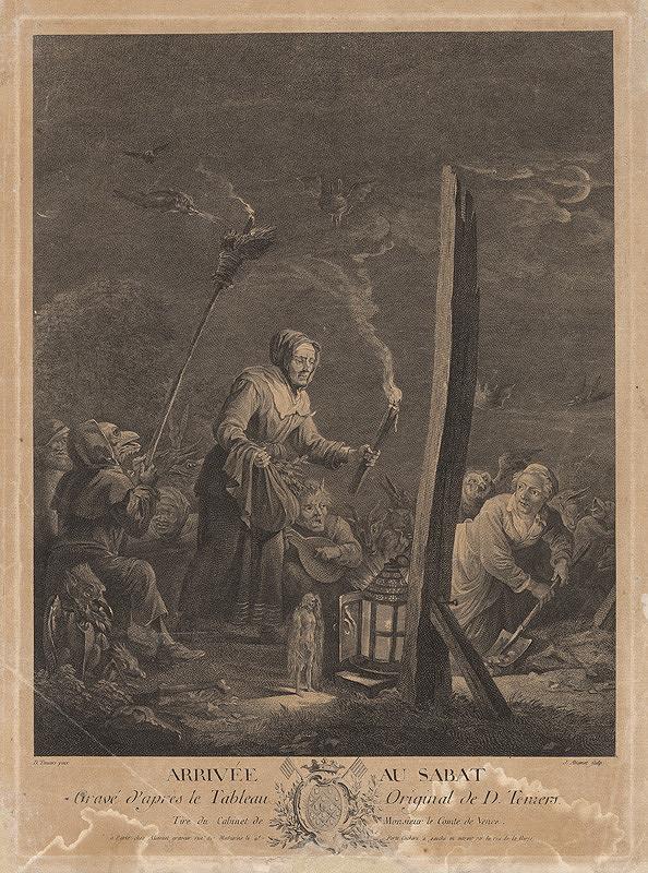Jacques Aliamet, David Teniers – Príchod sabatu