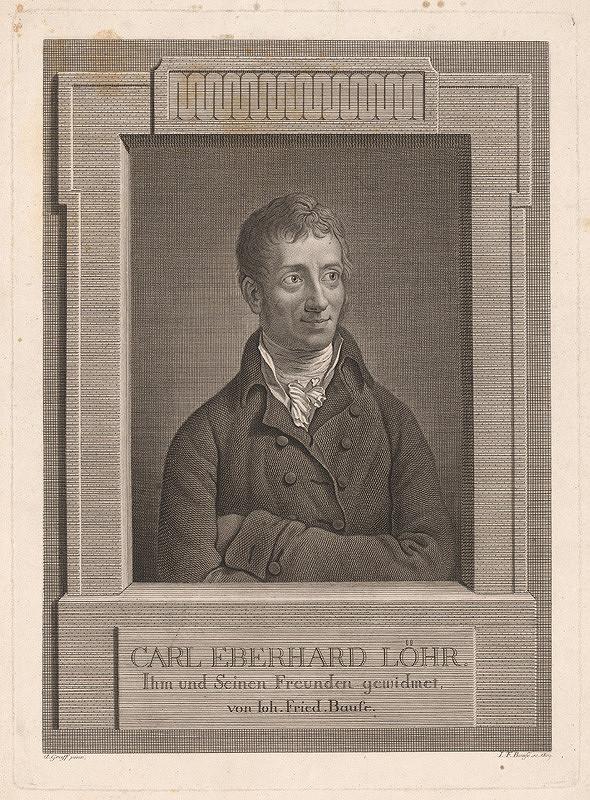 Johann Friedrich Bause, Anton Graff – Portrét pána Löhra