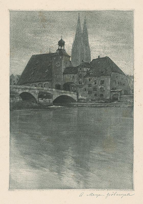 Stredoeurópsky autor z 19. storočia - Mestský motív