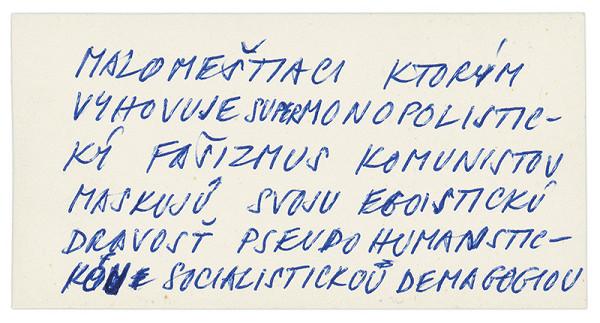 Július Koller – Archív JK/Najväčší egoisti...