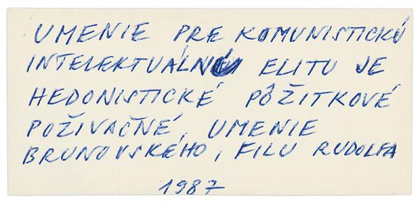 Július Koller - Archív JK/Umenie pre komunistickú...