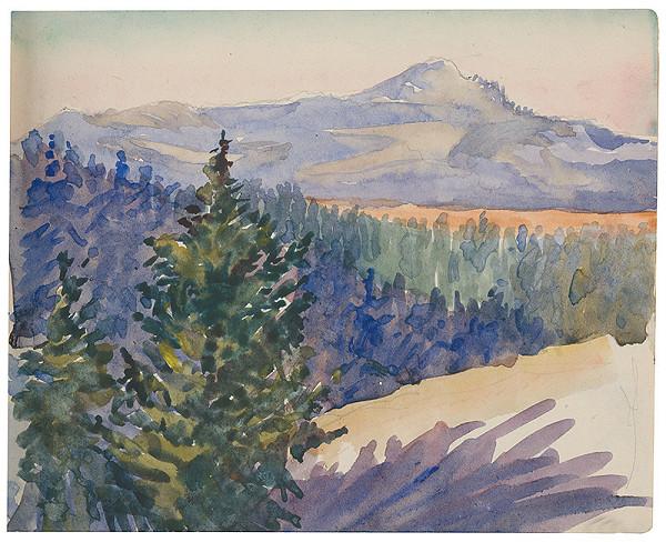 Margita Czóbelová – Náčrt pohľadu na vrchy a les