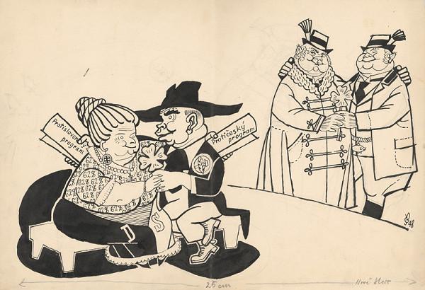 Štefan Bednár - Priateľstvo politických strán - 1948