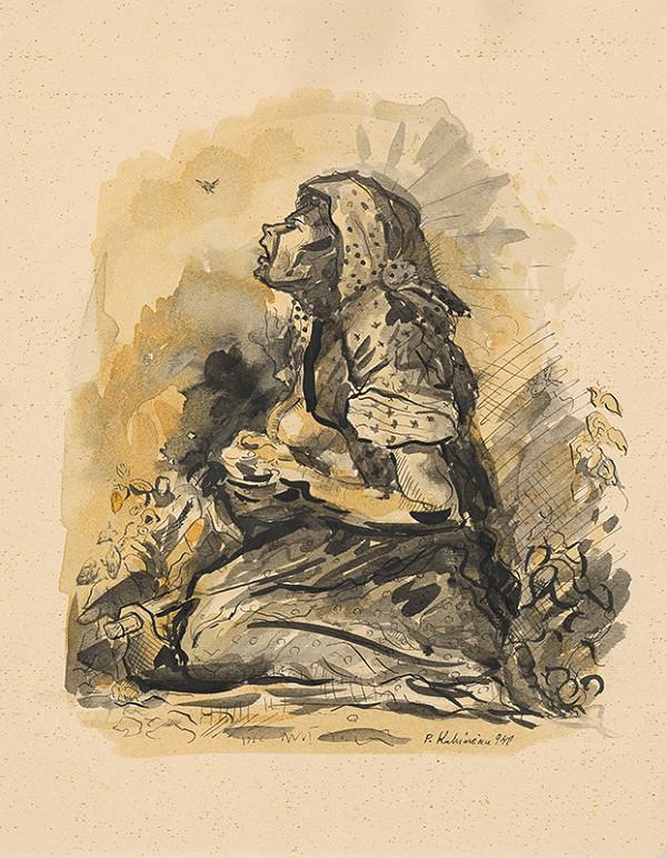 Arnold Peter Weisz-Kubínčan - Cigánka a škovránok