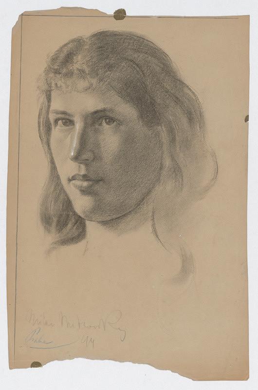 Milan Thomka Mitrovský - Štúdia ženskej hlavy