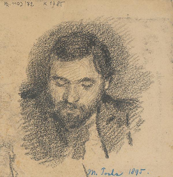 Milan Thomka Mitrovský – Štúdia hlavy muža s bradou