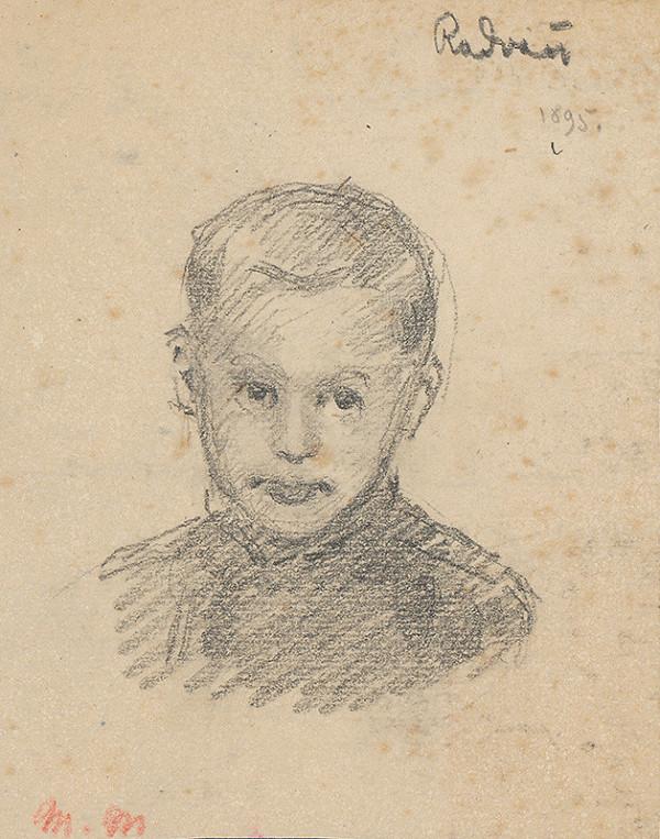 Milan Thomka Mitrovský – Štúdia hlavy radvaňského chlapca