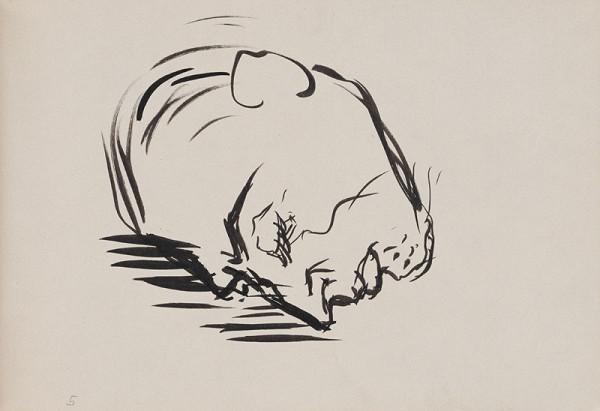 Arnold Peter Weisz-Kubínčan – Skicár 9 Hlava muža