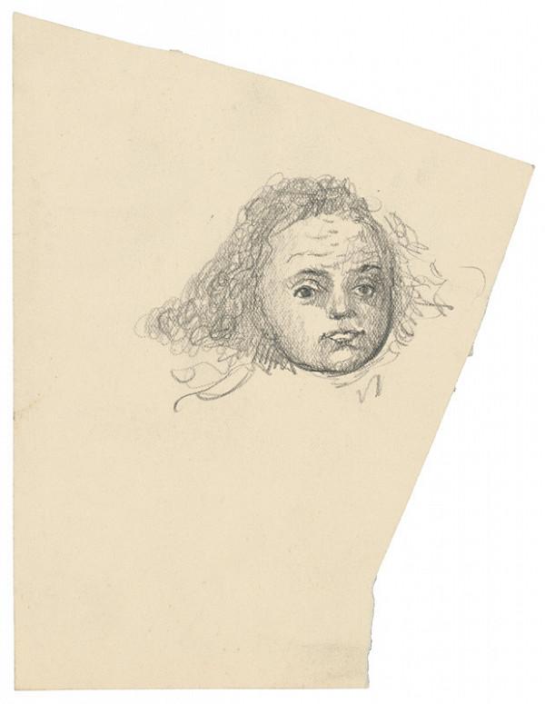 Arnold Peter Weisz-Kubínčan - Skicár 22 Portrét dievčaťa (vložený list)