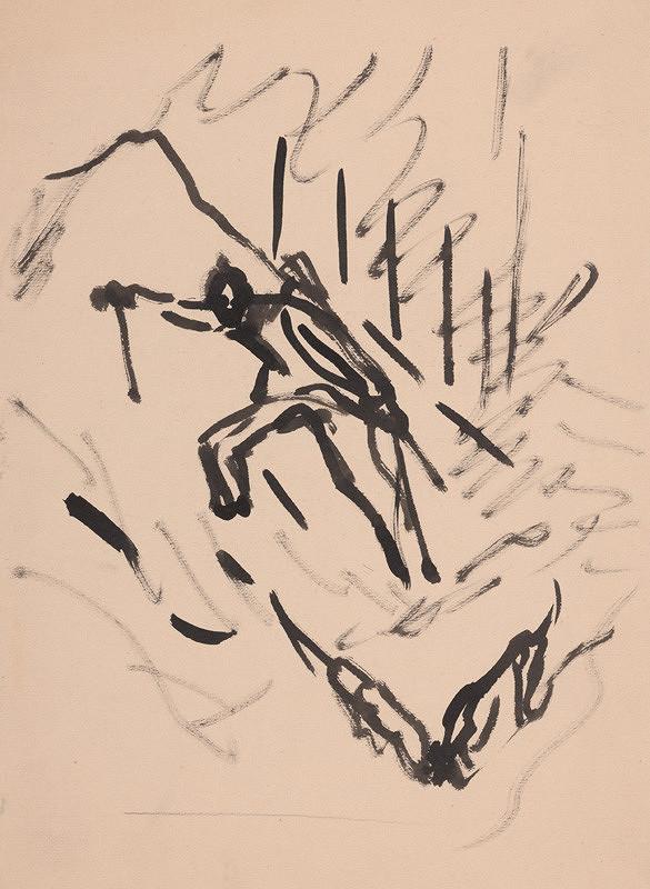 Arnold Peter Weisz-Kubínčan – Muž a dva psy