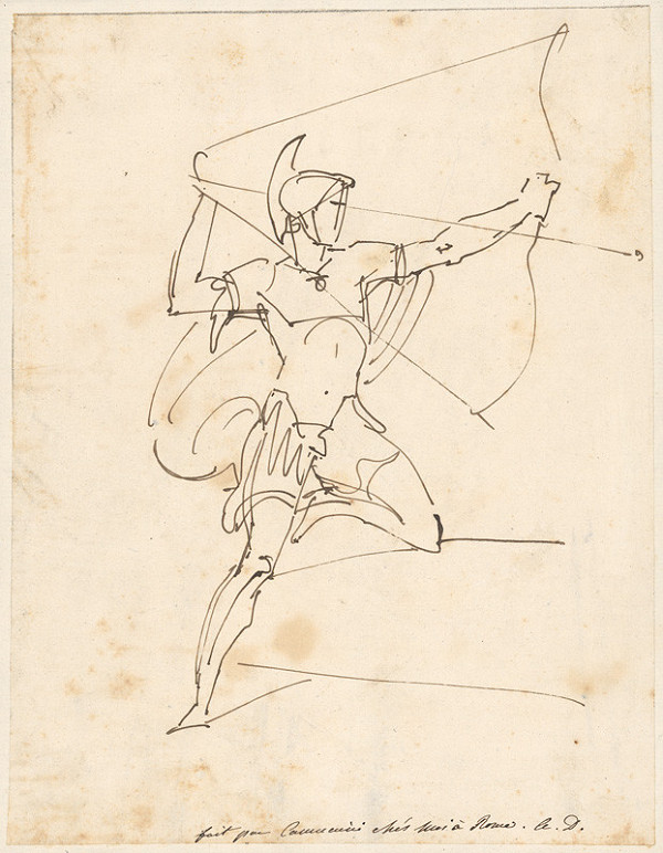 Vincenzo Camuccini – Antický bojovník pri strelbe lukom