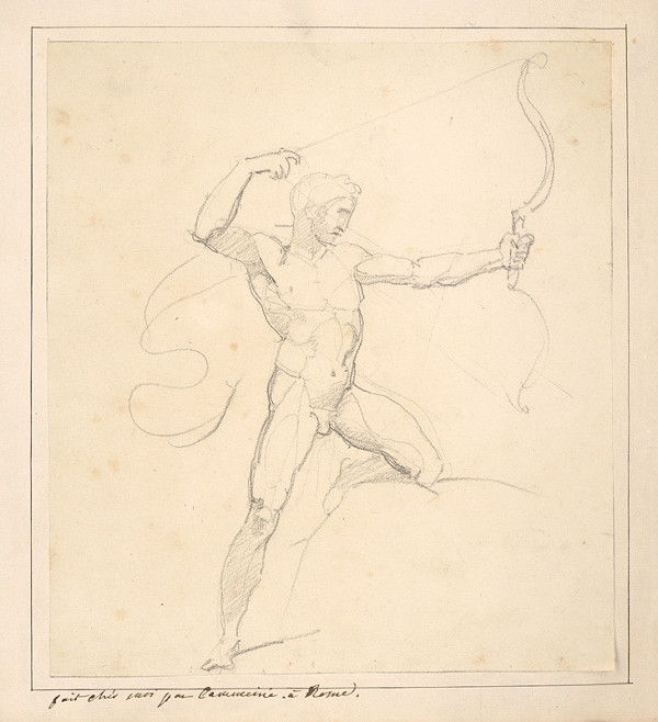 Vincenzo Camuccini – Mužský akt pri strelbe lukom
