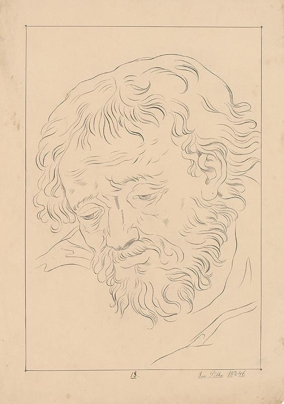 Ján Pálka – Portrétna štúdia muža s bradou