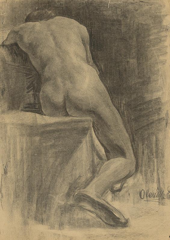 Emil Alexay-Olexák – Štúdia sediaceho muža