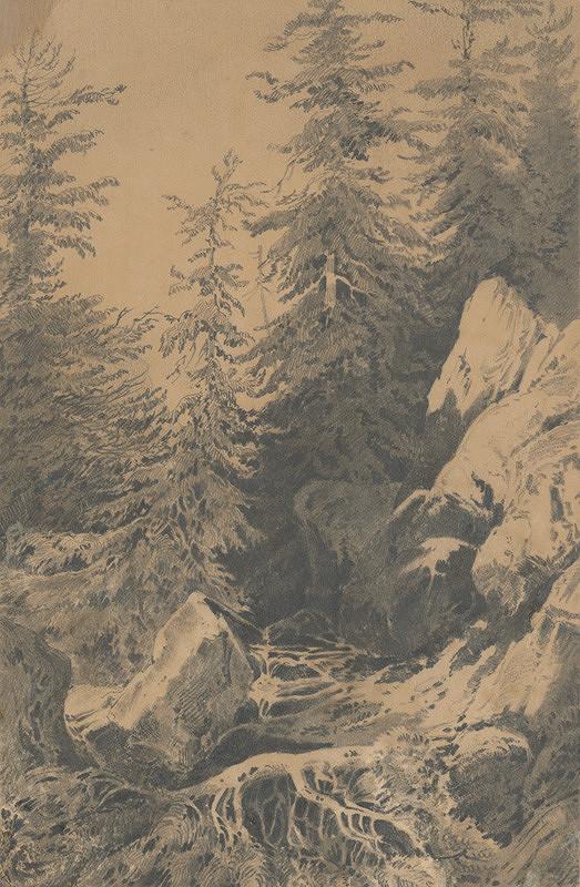 Friedrich Carl von Scheidlin – Horský motív