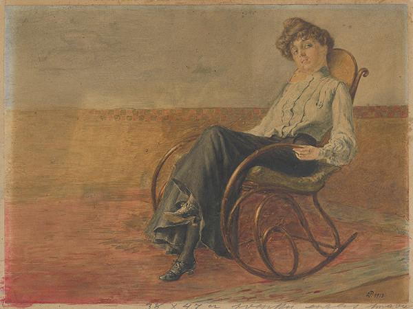 Anton Pinkava – Žena v hojdacom kresle