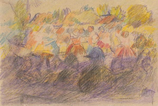 Gustáv Mallý – Štúdia k obrazu Slovenská svadba