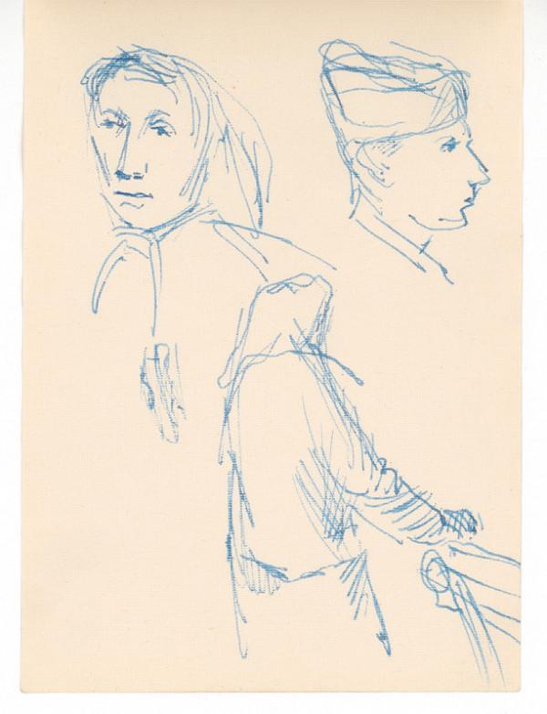 Ernest Špitz - Dva portréty a figurálny motív