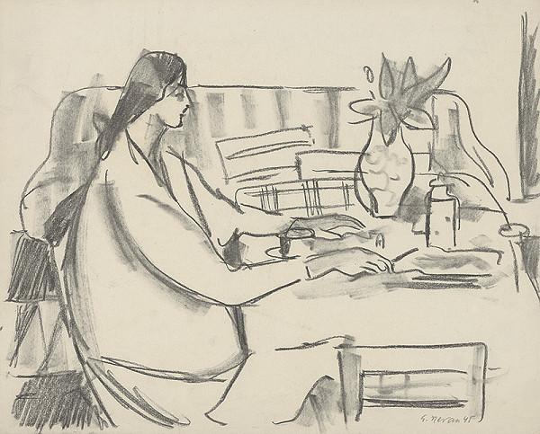 Eugen Nevan - Žena v interiéri I.