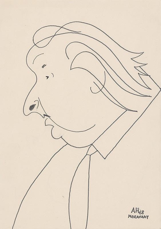 Adolf Hoffmeister – Karikatúrna kresba A.Bednára IV.